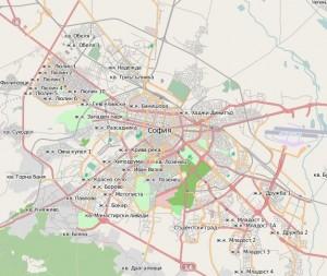 Karte von Sofia - (c) OpenStreetMap.org