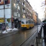 Eine Tram in Sofia