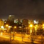 Nachtstimmung in Sofia - im Hintergrund: Vitosha-Gebirge