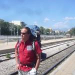 Warten auf den Zug in Athen
