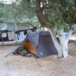 Unser Zeltplatz in Tolo